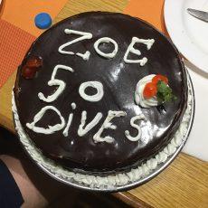 Zoe hits 50
